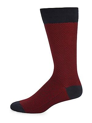 Chevron Mid-Calf Socks