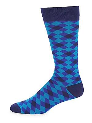Criss-Cross Check Socks