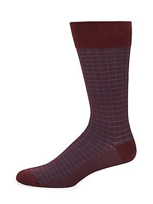 Windowpane Dress Socks