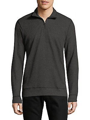 Cotton Quarter-Zip Shirt