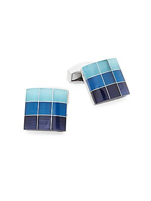 Multi-Color Grid Cufflinks