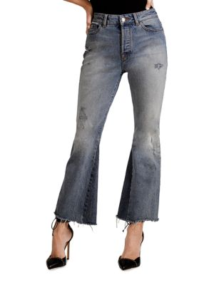 Jackie Trimtone Cropped Flared Jeans