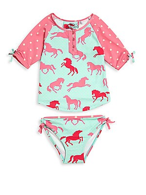Little Girl's Pony Rash Guard