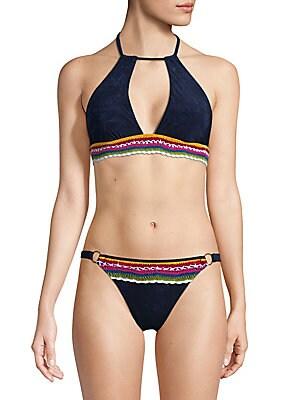 Crochet Denim Bikini Top