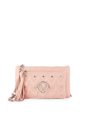 Studded Two-Pouch Crossbody Bag