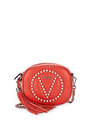 Nina Embellished Leather Crossbody Bag