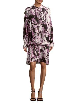Printed Silk Shirtdress