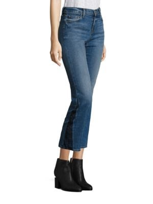 SELENA CROPPED BOOTCUT JEANS
