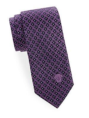 Chain-Link Silk Tie
