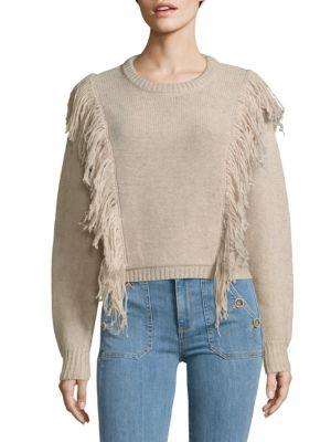 Fringed Wool Sweater