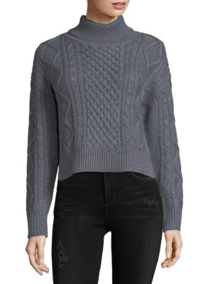ISABEL CABLE KNIT MERINO WOOL SWEATER