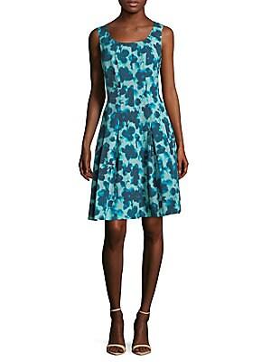 Crepe Floral A-Line Dress