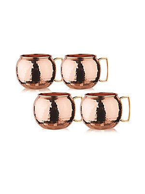 Hammered Copper Moscow Mule Mug/ Set Of 4