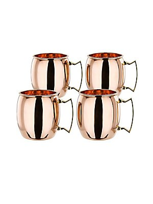 Set Of 4 Solid Copper Moscow Mule Mug/ 16 oz.