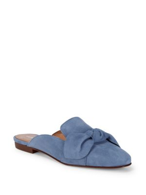 Bow Suede Mules