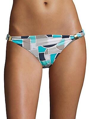 Geometric-Print Bikini Bottom
