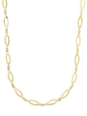 14K YELLOW GOLD CUT-OUT LOOP NECKLACE