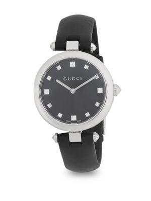 Diamantissima Leather Strap Watch