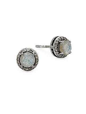 Echo Diamond & Gemstone Stud Earrings