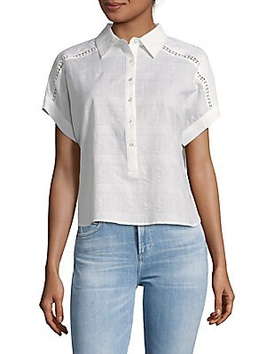 Alessandra Button Front Top