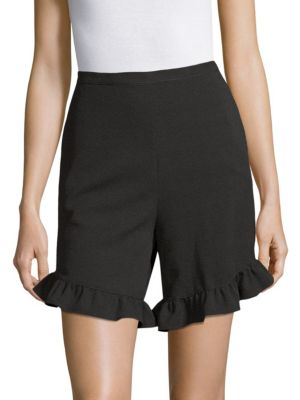 Ruffled Crepe Shorts