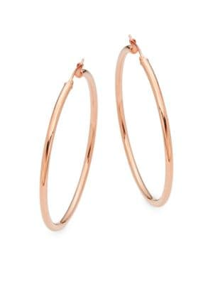 ROSE GOLD HOOPS/ 2.5""
