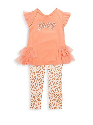 Baby's Ruffle Logo Top & Leggings Set