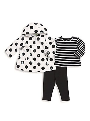 Baby's Three-Piece Jacket, Cotton Top and Leggings Set