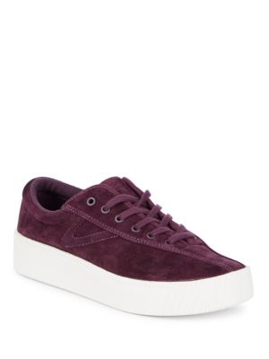 Nylite Suede Low-Top Sneakers