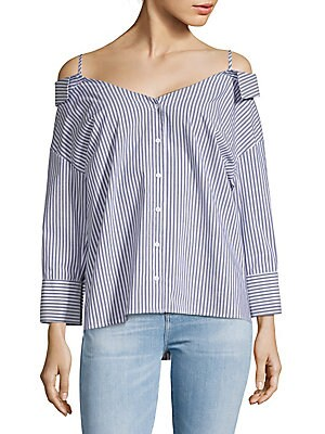 Off-Shoulder Stripe Shirt