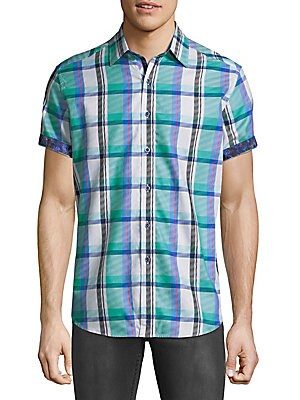 Flimore Plaid Button-Down Shirt