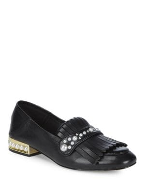 Blake Faux Pearl-Trimmed Loafer
