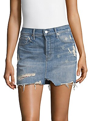 The Vagabond Distressed Denim Skirt