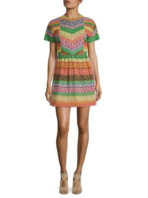 Striped Short-Sleeve Dress
