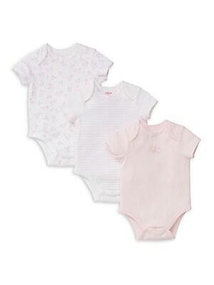 Baby's Three-Pack Printed Cotton Bodysuit