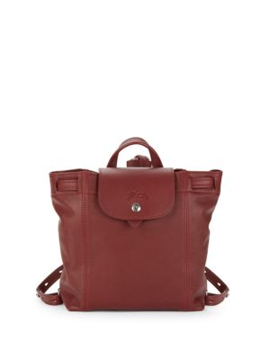 82ef8dccdec4 LONGCHAMP LE PLIAGE CUIR LEATHER DRAWSTRING BACKPACK