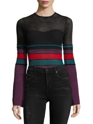 Multicolored Mesh Bodysuit