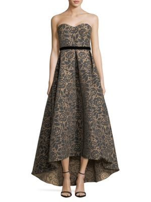 Floral Jacquard Ball Gown