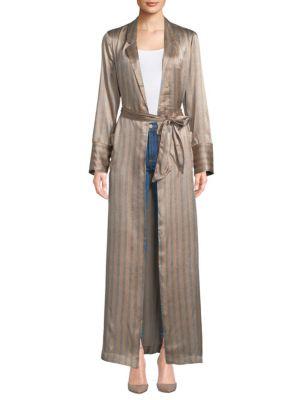 Florian Striped Silk Robe