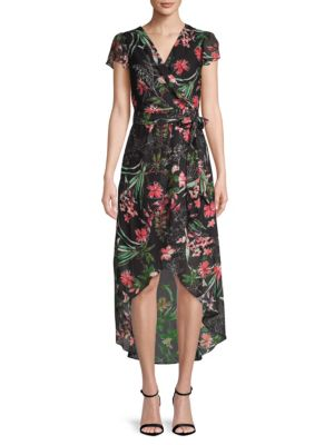 Floral Hi-Lo Wrap Dress