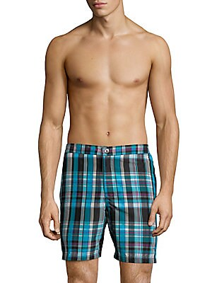 Coasta Whos Your Plaid Swim Trunks