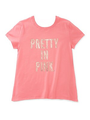 Little Girl's Pretty in Pink Swing Cotton Tee
