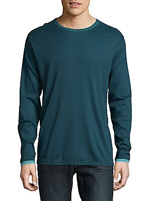 Dual in the Sun Long-Sleeve Cotton Sweater