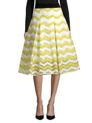 Chevron Inverted Pleat Skirt