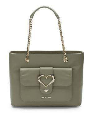 Chain Heart Tote Bag
