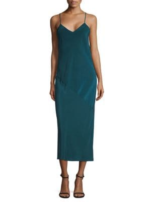 SILK MIDI SLIP DRESS