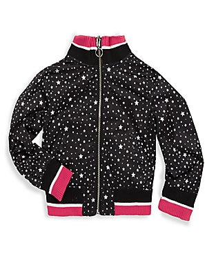 Little Girl's Printed Track Jacket