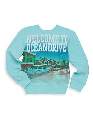 Boy's Ocean Drive Crewneck