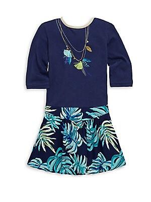 Little Girl's & Girl's Palm Tassle Dress