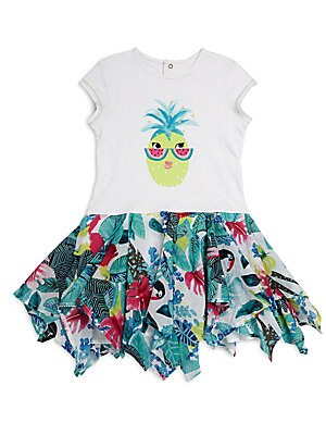 Little Girl's & Girl's Pineapple Printed Dress